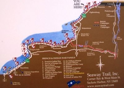 Seaway Trail French & Indian Marker Map image. Click for full size.