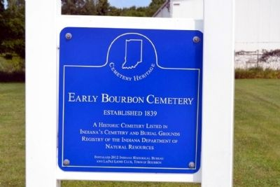 Early Bourbon Cemetery Marker image. Click for full size.