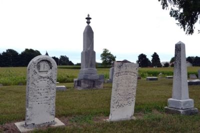 Headstones of Early Cemetery Graves image. Click for full size.