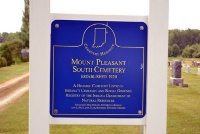 Mount Pleasant South Cemetery Marker image. Click for full size.