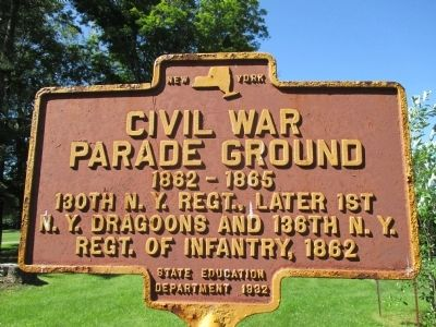Civil War Parade Ground Marker image. Click for full size.