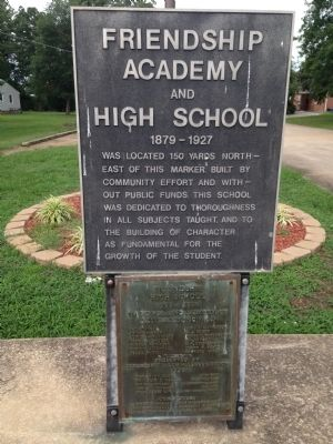 Friendship Academy and High School Marker image. Click for full size.