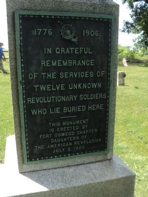 12 Unknown Revolutionary Soldiers Marker image. Click for full size.