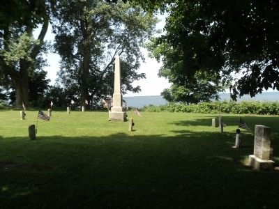 Monument in Fort Ontario Cemetery image. Click for full size.