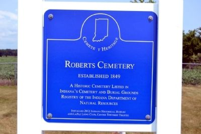 Roberts Cemetery Marker image. Click for full size.
