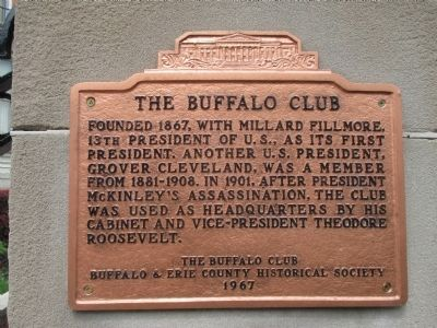 The Buffalo Club Marker image. Click for full size.