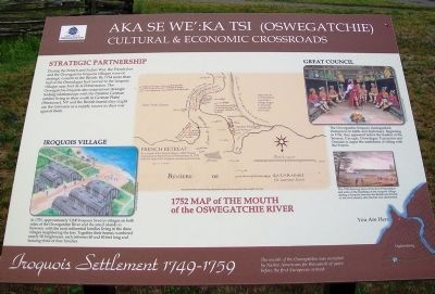 Aka Se We':Ka Tsi (Oswegatchie) Marker image. Click for full size.