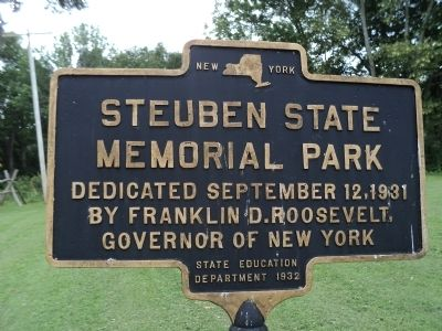 Steuben State Memorial Park Marker image. Click for full size.