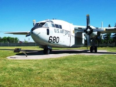 "Fairchild C-119 ""Flying Boxcar"" and Marker image. Click for full size."