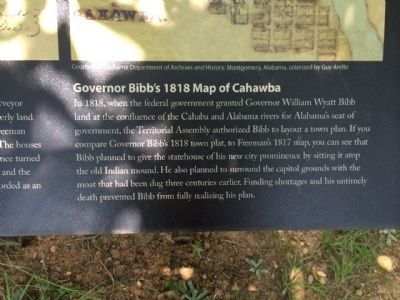 Governor Bibb's 1818 Map of Cahawba. image. Click for full size.