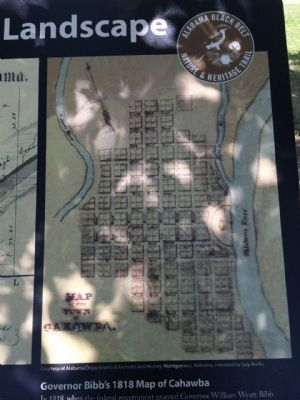 Governor Bibb's 1818 Map of Cahawba image. Click for full size.