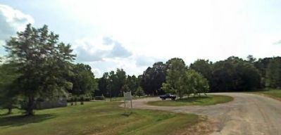 View of visitors center and marker area. image. Click for full size.