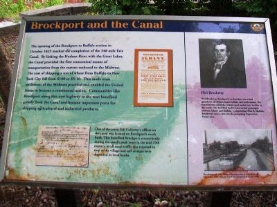 Brockport and the Canal Marker image. Click for full size.