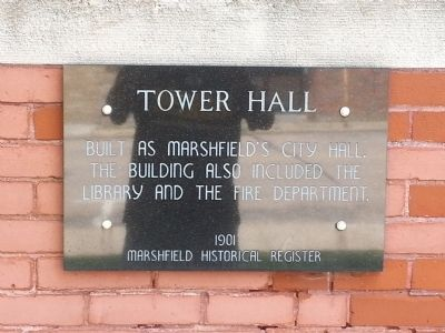 Tower Hall Marker image. Click for full size.