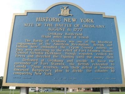 Site of The Battle of Oriskany Marker image. Click for full size.