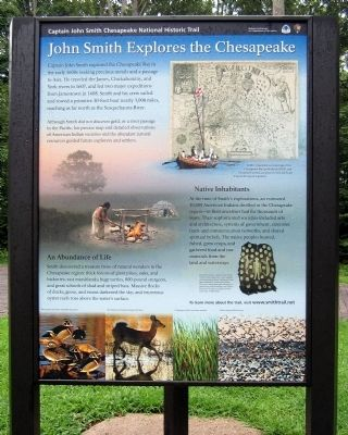 John Smith Explores the Chesapeake (panel 1) image. Click for full size.
