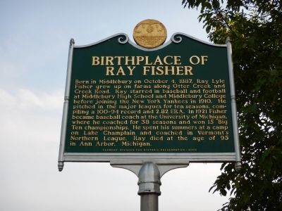 Birthplace of Ray Fisher Marker image. Click for full size.