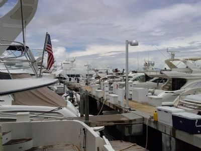 Boats tied up at Haulover Beach dock image. Click for full size.