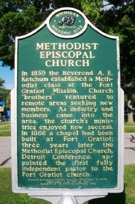Methodist Episcopal Church Marker (Side B) image. Click for full size.