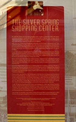 Silver Spring Shopping Center Sign image. Click for full size.