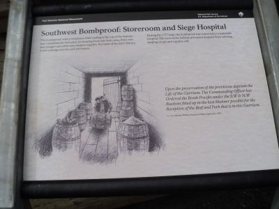 Southwest Bombproof: Storeroom and Siege Hospital Marker image. Click for full size.
