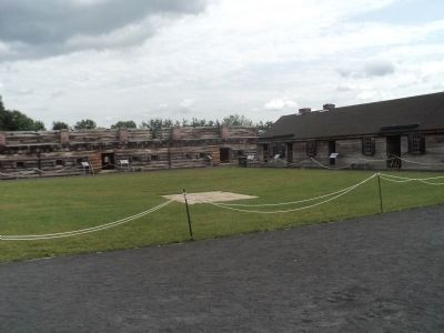 Markers in Fort Stanwix image. Click for full size.