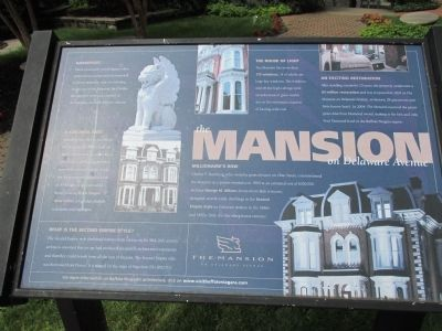The Mansion on Delaware Avenue Marker image. Click for full size.
