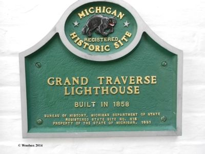 Grand Traverse Lighthouse Marker image. Click for full size.