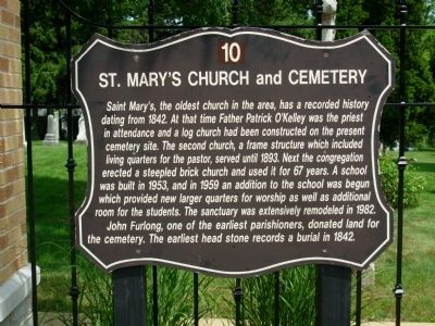 St. Mary's Church and Cemetery Marker image. Click for full size.