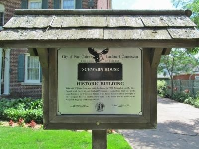 Schwahn House Marker image. Click for full size.