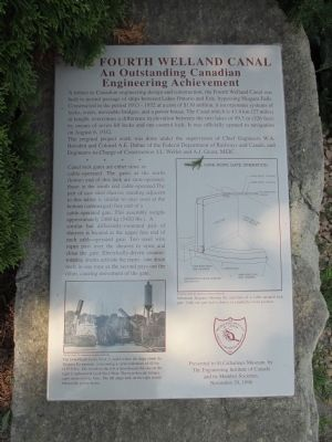 The Fourth Welland Canal Marker image. Click for full size.