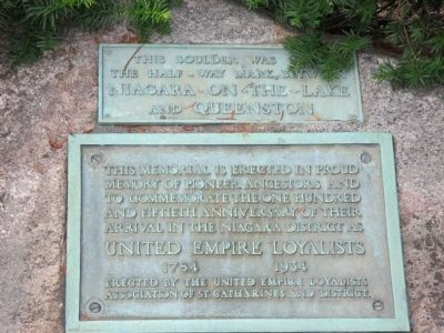 Niagara District United Empire Loyalists Memorial Marker image. Click for full size.