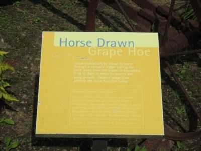 Horse Drawn Grape Hoe Marker image. Click for full size.