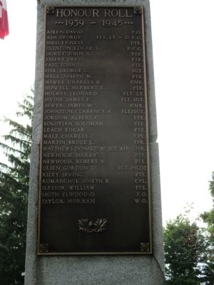 In Honoured Memory of the Men of the Township of Grantham Marker image. Click for full size.
