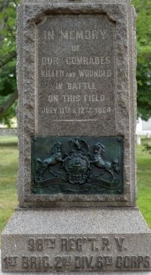 98th Pennsylvania Infantry Marker image. Click for full size.