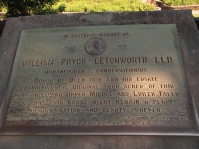 In Grateful Memory of William Pryor Letchworth Marker image. Click for full size.