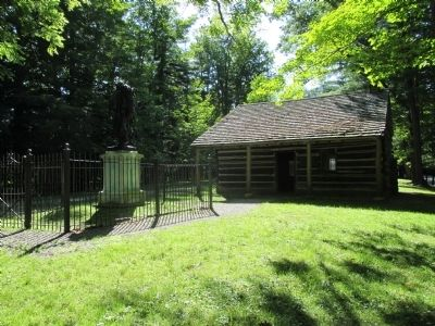 Nancy Jemison Log Cabin and Mary Jemison Memorial image. Click for full size.