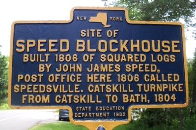 Site of Speed Blockhouse Marker image. Click for full size.