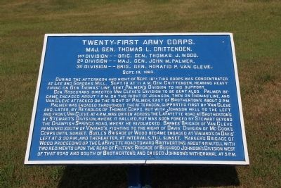 Twenty-First Army Corps Marker image. Click for full size.