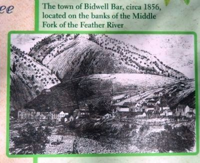 Bidwell Bar c.1856 (<i>inset photo close-up</i>) image. Click for full size.