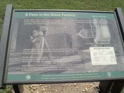 A Pane in the Glass Factory Marker image. Click for full size.