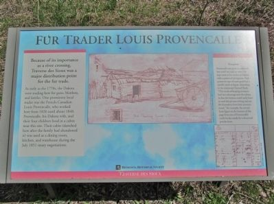 Fur Trader Louis Provencalle Marker image. Click for full size.