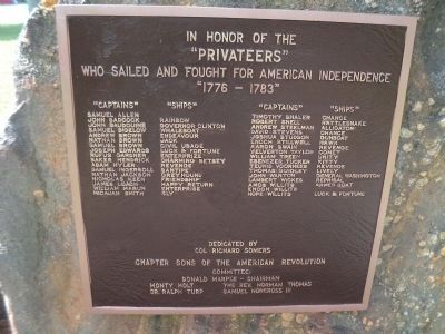 Restored Privateers Marker Photo, Click for full size