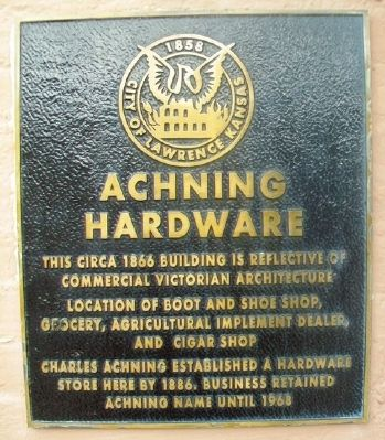 Achning Hardware Marker image. Click for full size.