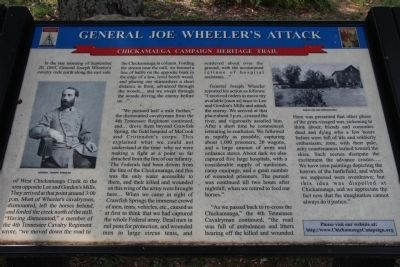 General Joe Wheeler's Attack Marker image. Click for full size.