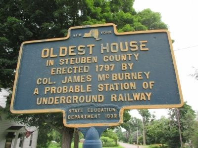Oldest House in Steuben County Marker image. Click for full size.