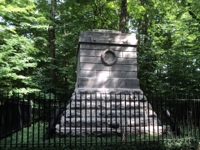 Steuben's Grave in the Sacred Grove image. Click for full size.