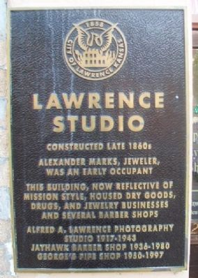 Lawrence Studio Marker image. Click for full size.