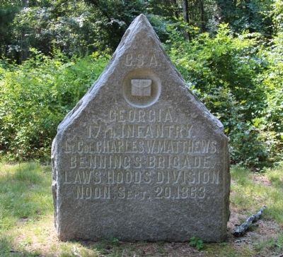 17th Georgia Infantry Marker image. Click for full size.