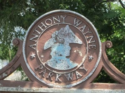 White''s Station Marker, part of the Anthony Wayne Parkway series image. Click for full size.